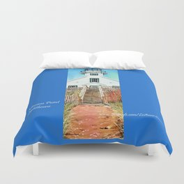 Mission Point Lighthouse Duvet Cover