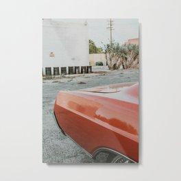 Orange Vintage Car Metal Print