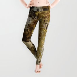 Abstract Moss design 02 Leggings