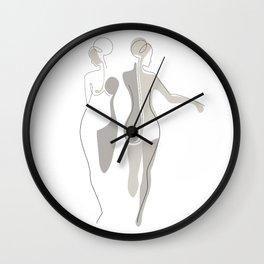 Eggshell Exhibit Wall Clock