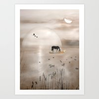 seahorse Art Prints featuring Seahorse by Laake-Photos