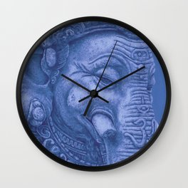 Ganesha blue Wall Clock