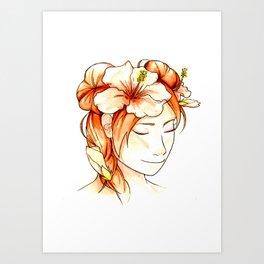 Tenten & Hibiscus Art Print
