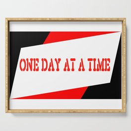 One Day at a Time (red) Serving Tray