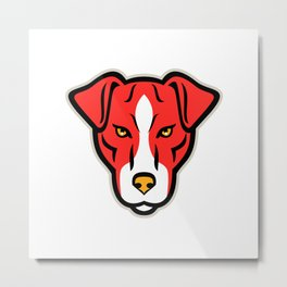 Plummer Terrier Dog Front Mascot Metal Print
