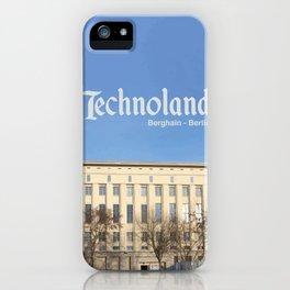 Technoland, Berlin, the Techno Meca Club! iPhone Case