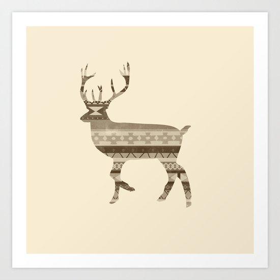 Native Deer Art Print