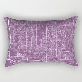 Chandler Map, USA - Purple Rectangular Pillow