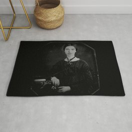 Portrait of Emiliy dickinson Rug