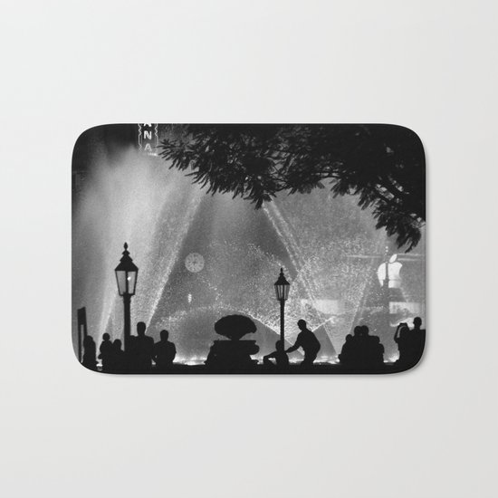 night time in the city Bath Mat
