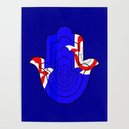 Pop Art Hamsa Hand Poster