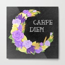 Crescent Bloom | Lavender and lemons  Metal Print