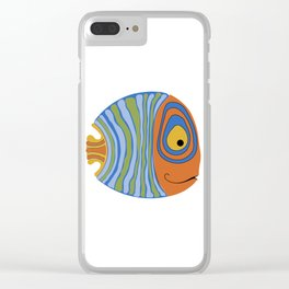 Fish art 21.2 Clear iPhone Case