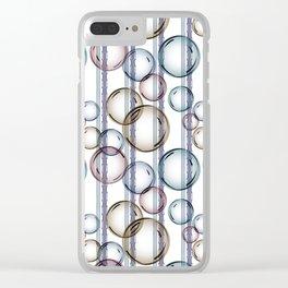Bubbles 2 Clear iPhone Case