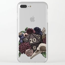 Necromancer D20 Tabletop RPG Gaming Dice Clear iPhone Case