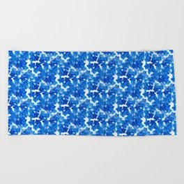 Forget-me-not Flowers White Background #decor #society6 #buyart Beach Towel