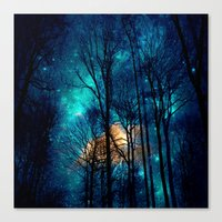 starry night Canvas Prints featuring starry night by haroulita