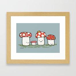 Royal Mushroom Jamboree Framed Art Print