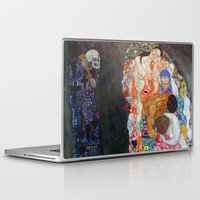 gustav klimt Laptop & iPad Skins featuring Death and Life by Gustav Klimt by cvrcak