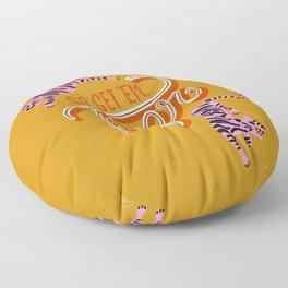 Go Get 'Em Tiger – Yellow Palette Floor Pillow