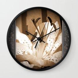 Oriental Lily named Muskadet Wall Clock