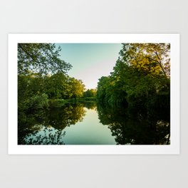 Great River Ouse from a boat (4) Art Print