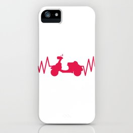 Scooter With Heartbeat Moped And Scooter Gifts iPhone Case