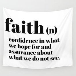 faith definition Wall Tapestry