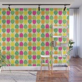 Pineapple Pop Pattern | Pop Art Pineapples | Colorful Pineapple Pattern | Pineapple Silhouettes | Wall Mural