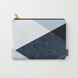 Geometrics II - blue marble & silver Carry-All Pouch