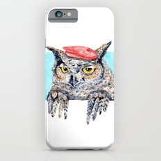 Serious Horned Owl in Red Beret  iPhone 6s Slim Case