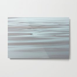 Blue and Beige Beach No. 2 Metal Print