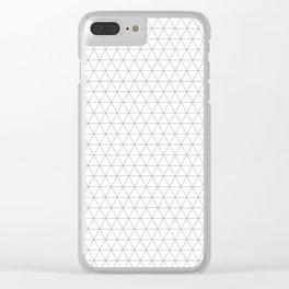 Geometric, Print, Minimal, Scandinavian, Abstract, Pattern, Modern art Clear iPhone Case