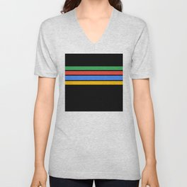 Team Colors....Green ,red, blue, yellow black Unisex V-Neck