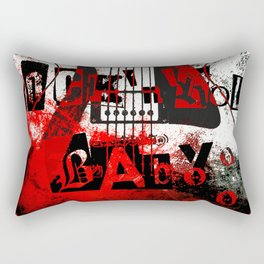 it's only rock n roll Baby Rectangular Pillow