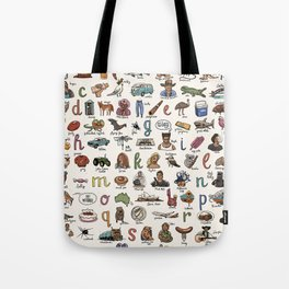 The Australian Alphabet Tote Bag