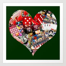 Heart Playing Card Shape - Las Vegas Icons Art Print