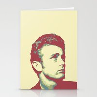 james franco Stationery Cards featuring James by victorygarlic - Niki