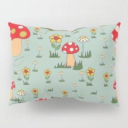 I am Happy - Fairy Mushroom Green Pillow Sham