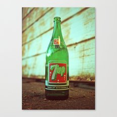 Nostalgic 7up bottle Canvas Print