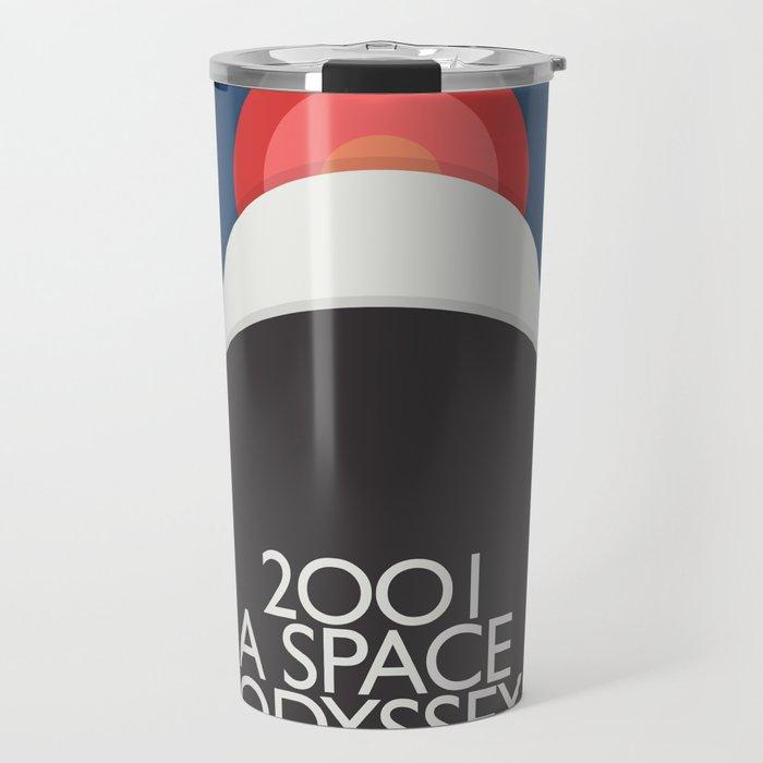 2001 a Space Odyssey, Stanley Kubrick alternative movie poster, dark blue  classic film, cinema love Travel Mug