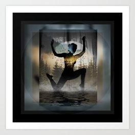 Yoga Forest Art Print
