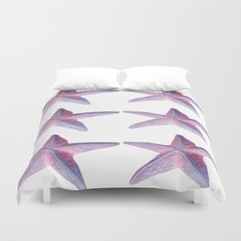 Pink Sea Stars in Six by Aloha Kea Photography Duvet Cover