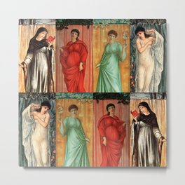 "Edward Burne-Jones ""The seasons"" Metal Print"