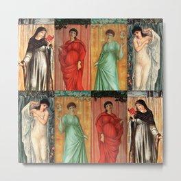 "Edward Burne-Jones ""The seasons"" Metal Print"