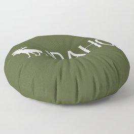 Idaho: Moose (Mountain Green) Floor Pillow