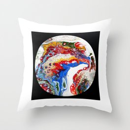 continents Throw Pillow