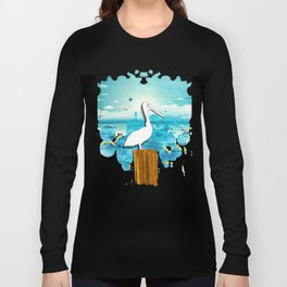 Pelican Summer Beach Long Sleeve T-shirt