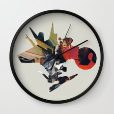The Other Side of Shattered Glass Wall Clock