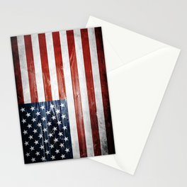 American Wooden Flag Stationery Cards